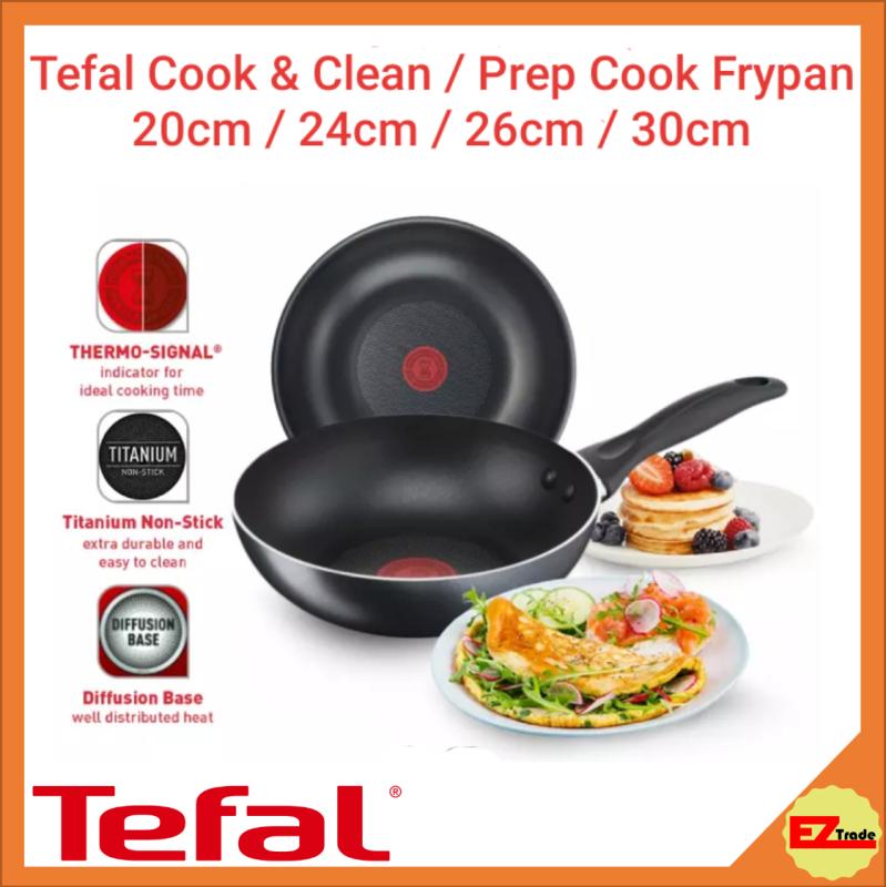 Tefal Cookware Cook & Clean / Prep Cook Frypan Frying Pan 20cm / 24cm / 26cm / 30cm Singapore