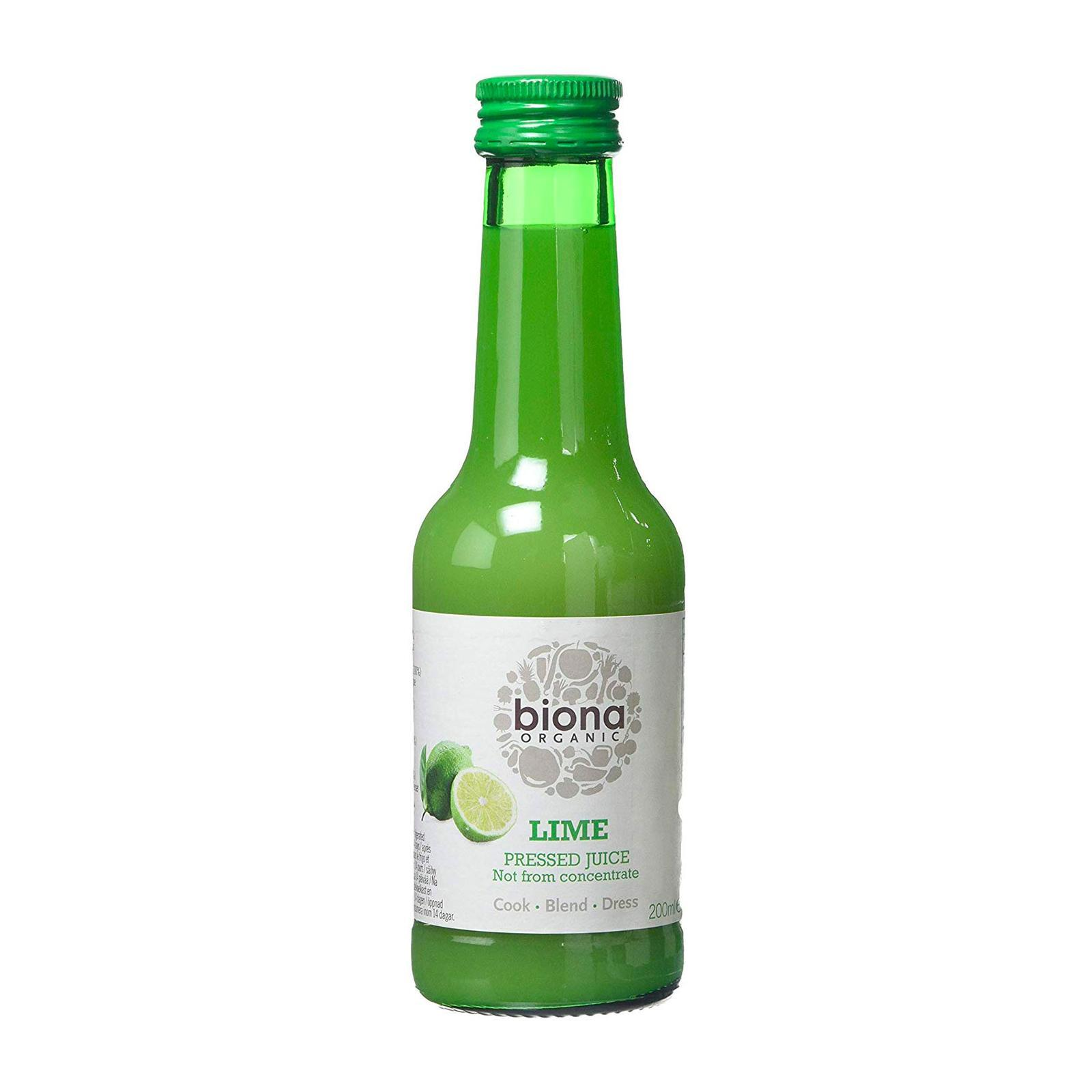Biona Organic Lime Juice - By Wholesome Harvest