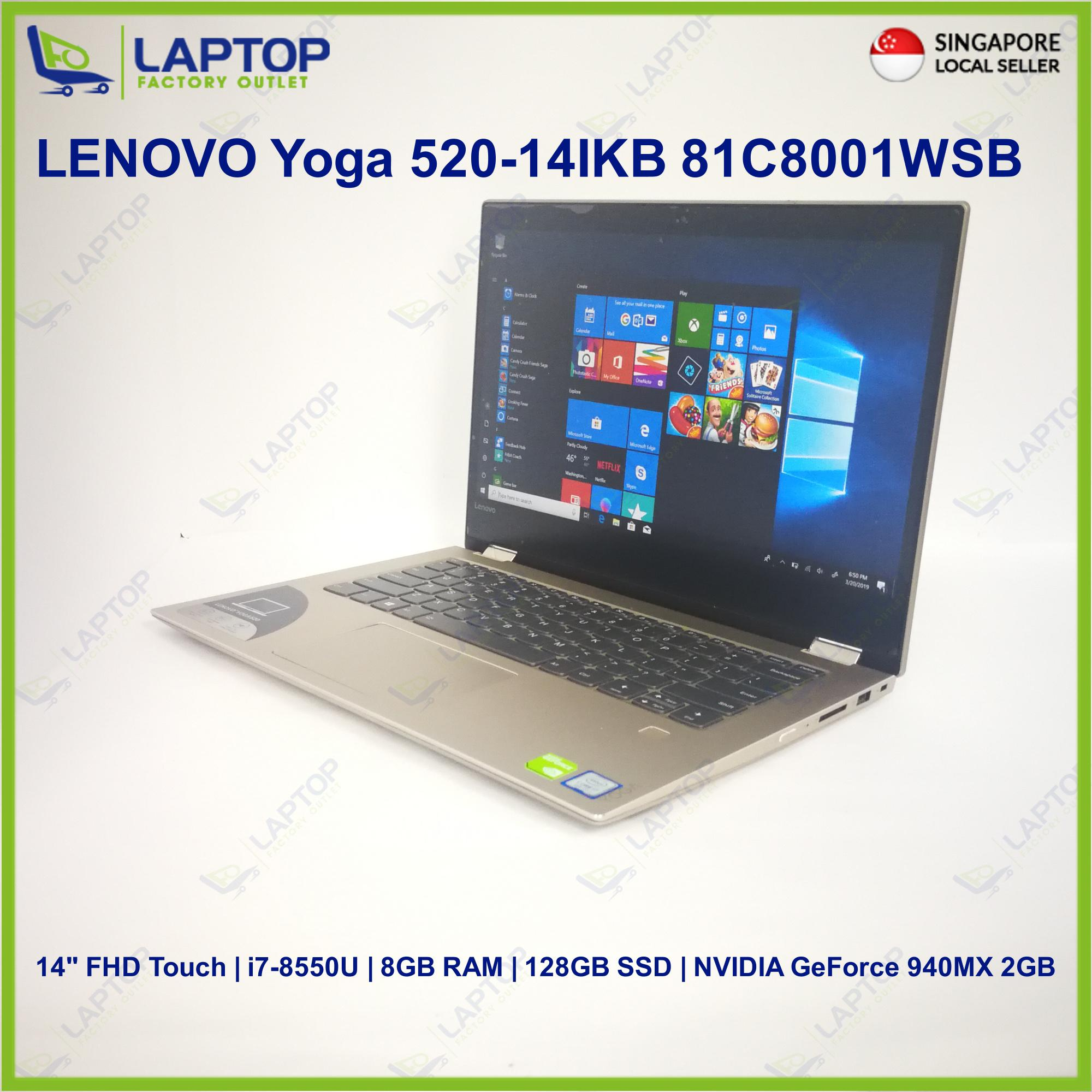 LENOVO Yoga 520-14IKB 81C8001WSB (i7-8/8GB/128GB)Premium Preowned [Refurbished]