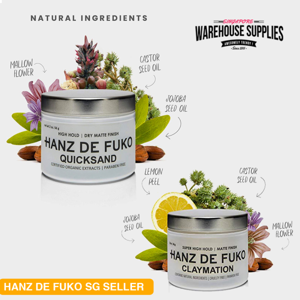 Buy Hanz De Fuko Quicksand / Claymation Hair Wax [Authentic Instocks SG] Singapore