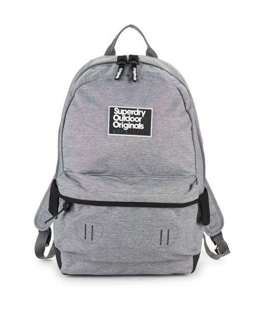 4e2a39cc420a Superdry Binder Montana Backpack (Grey)