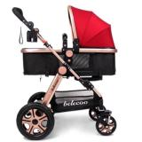 Price Belecoo Gold Frame German Design Stroller Red Belecoo