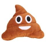 Buy Best Seller Smile Emoji Design Poo Shape Stuffed Plush Pillow 45Cm Brown China