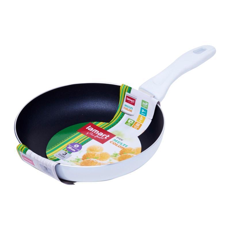 Lamart Induction Ready Non-Stick Fry Pan 20X4Cm - White Singapore