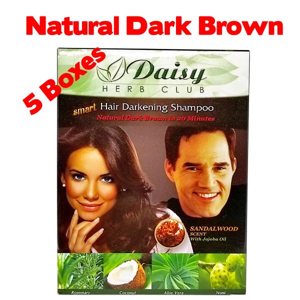 Buy [5 Boxes]Daisy Hair Colouring Dye (Shampoo)NATURAL DARK BROWN Singapore