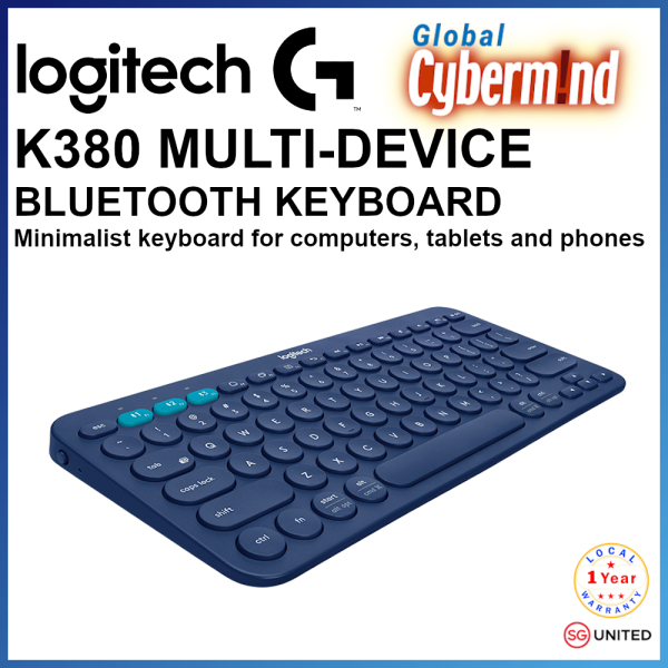 Logitech K380 Slim Multi-Device Bluetooth Keyboard (iOS, Android, OSX, iPhone) with Logitech FLOW Technology ( Brought to you by Global Cybermind )