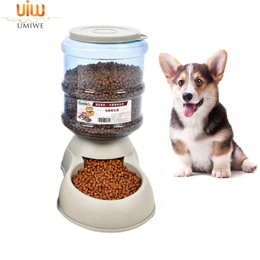 Umiwe 3.75l Cat Food Dispenser Auto Dog Feeder Detachable Cat Feeding Station -Bpa Free&food Grade- Replendish Gravity Feeder For Large Small Pet Puppy Kitten Reptiles By Umiwe.