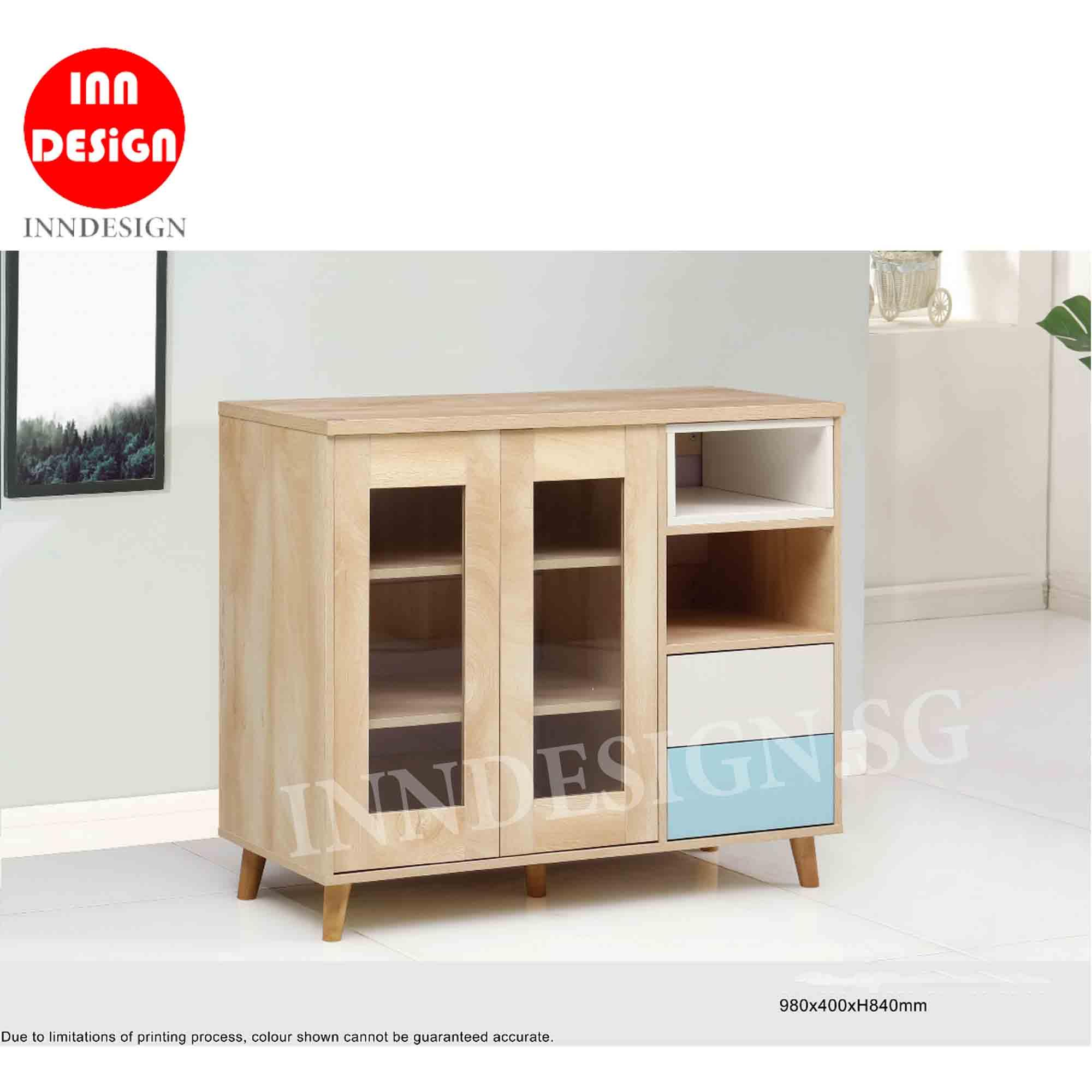 Vella III Storage Cabinet / Chest of Drawer / SIdeboard (Fully Assembled and Free Delivery)