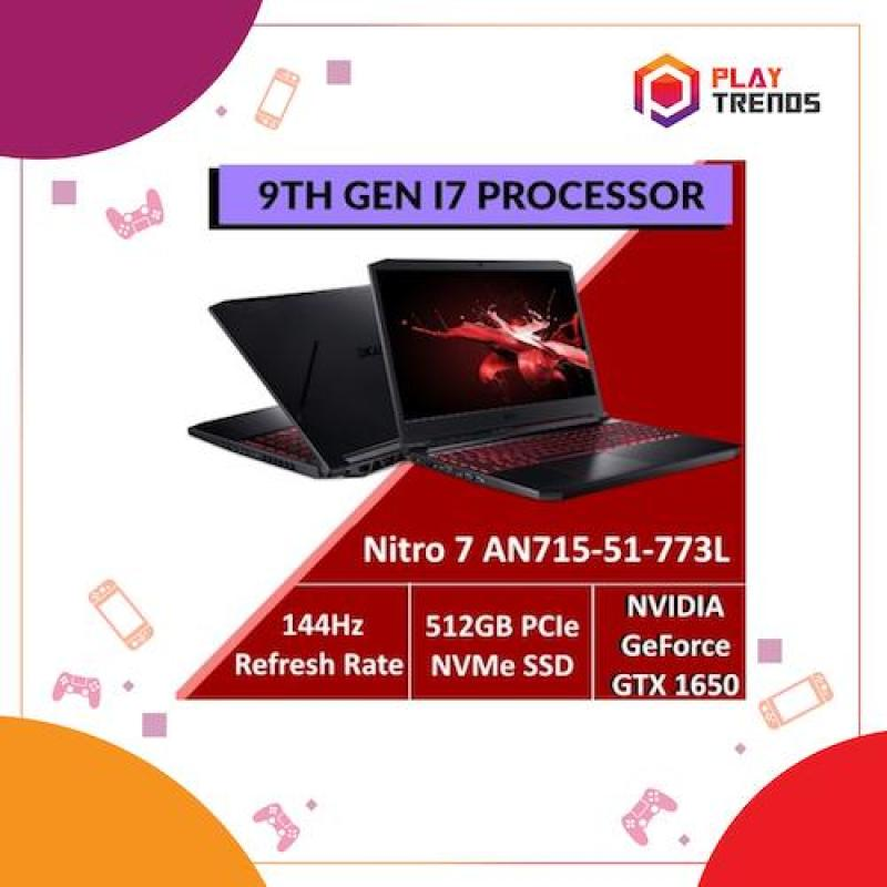Acer Nitro 7 AN715-51-773L - 9th Gen Intel Core™ i7-9750H processor with GTX 1650 Graphics by PlayTrends