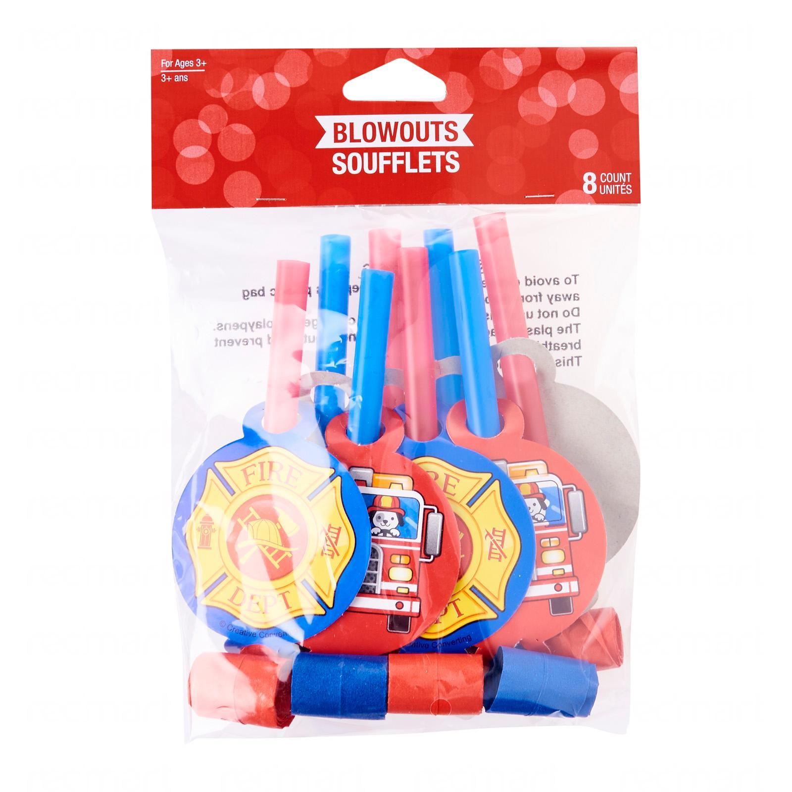 Creative Converting Flaming Fire Truck Blowouts Pack