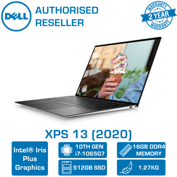 【DELIVERY IN 24 HOURS】 DELL XPS 13 2020 model 9300-10615SGL-UHDT Gaming Laptop | 13.3 UHD 4K Touch | i7-1065G7 | 16GB RAM | 512GB PCIe SSD | 2 Year Dell Onsite Warranty | Windows 10 Pro Upgrade