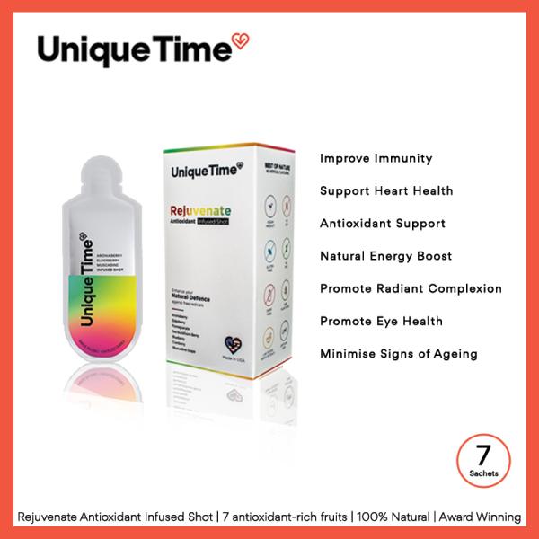 Buy REJUVENATE Antioxidant Infused Shot | 7 Sachets | 7 antioxidant-rich fruits | 100% Natural | Award Winning Singapore