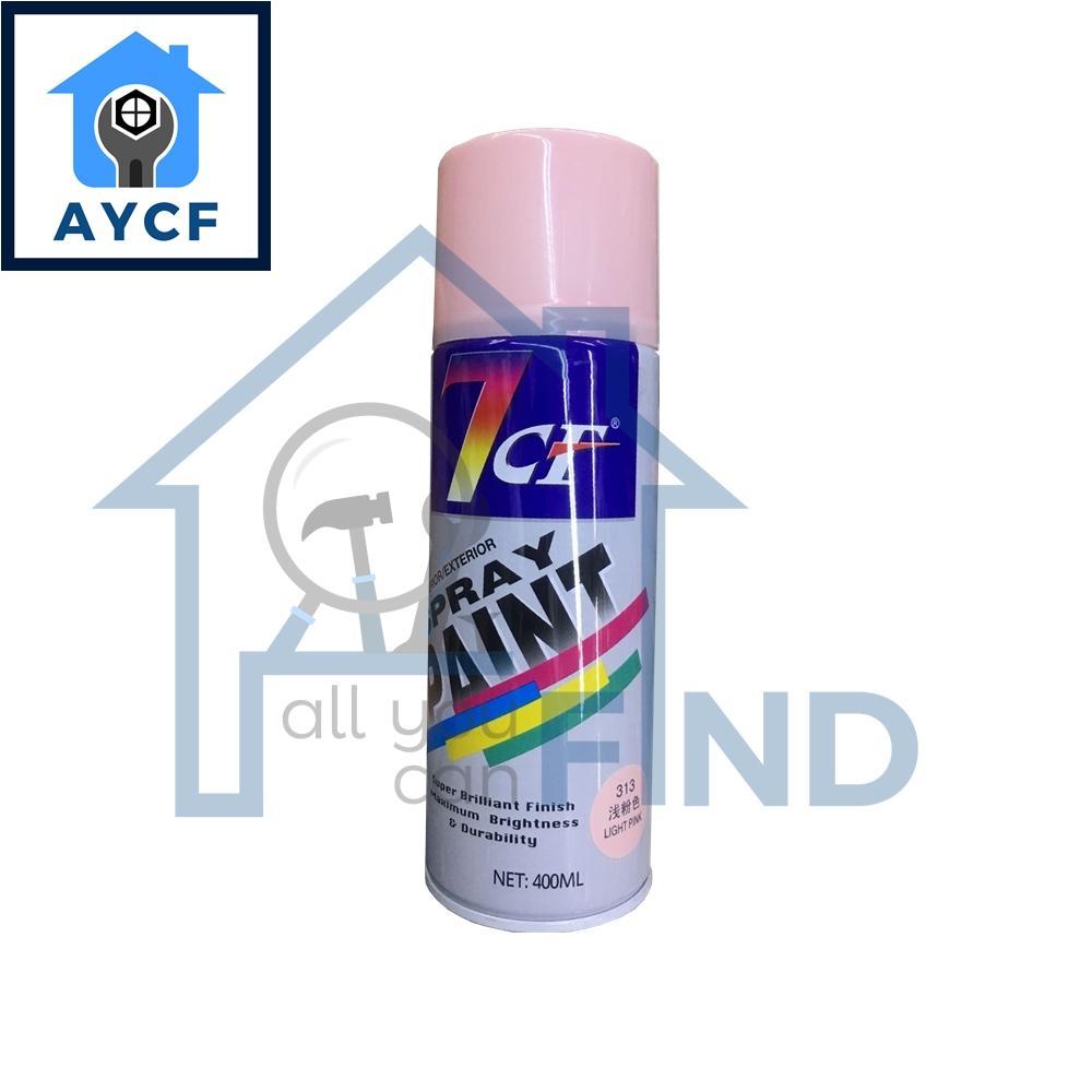 (BUNDLE OF 12) 7CF Interior / Exterior Spray Paint 400ml - Light Pink