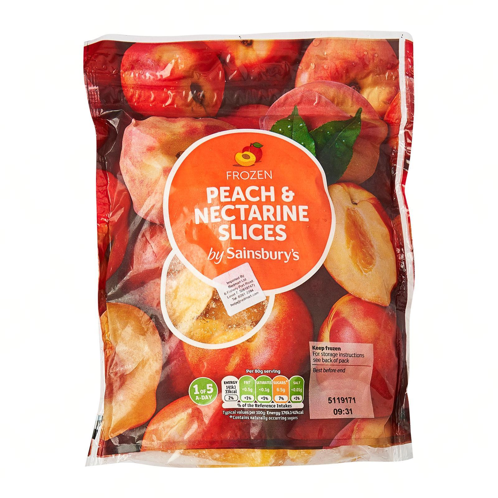Sainsbury's Peach And Nectarines Fruits - Frozen