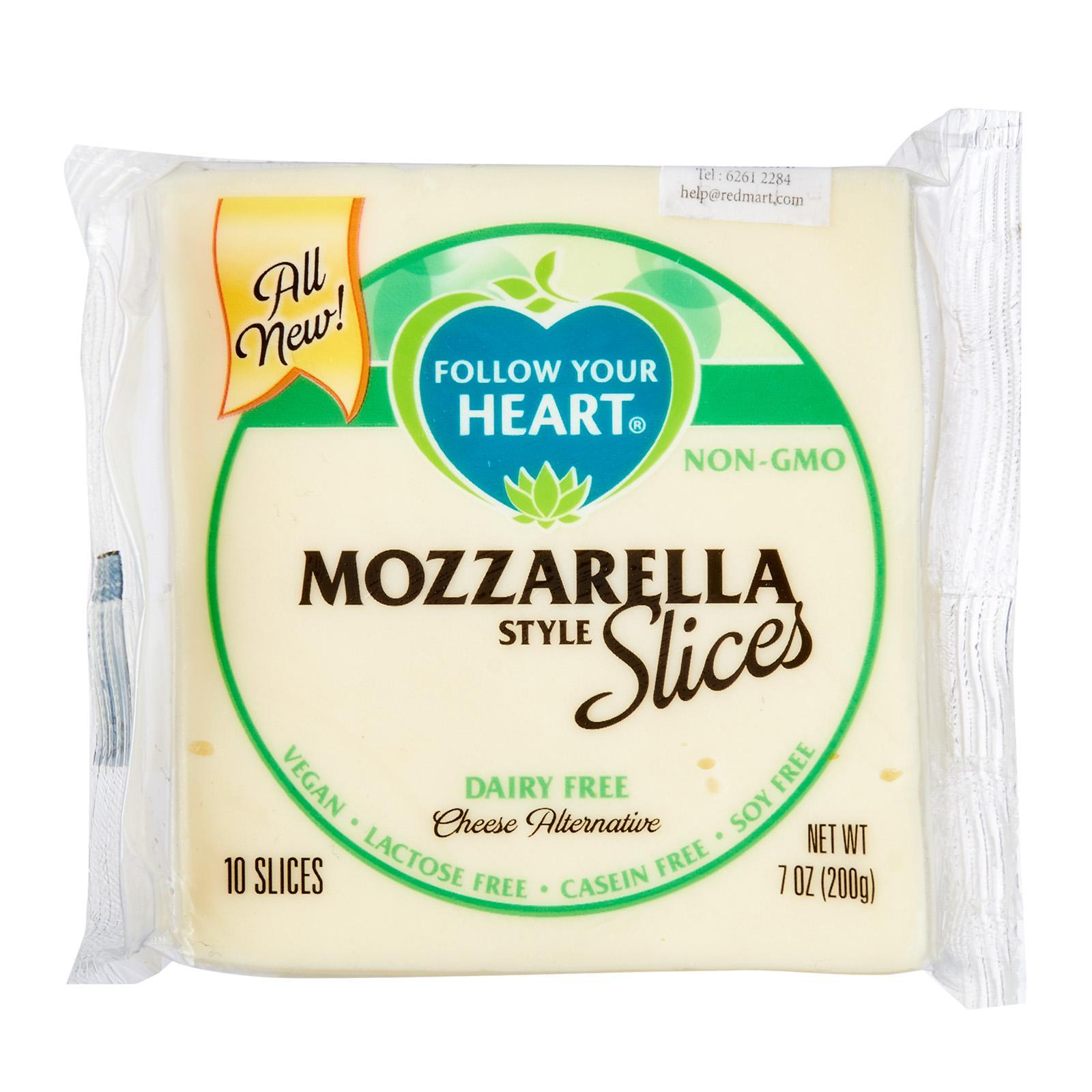Follow Your Heart Vegan Gourmet Cheese Alternative Mozzarella Slices