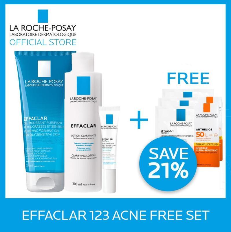 Buy La Roche-Posay Effaclar 123 Acne Free Set  (worth $69.80) Singapore