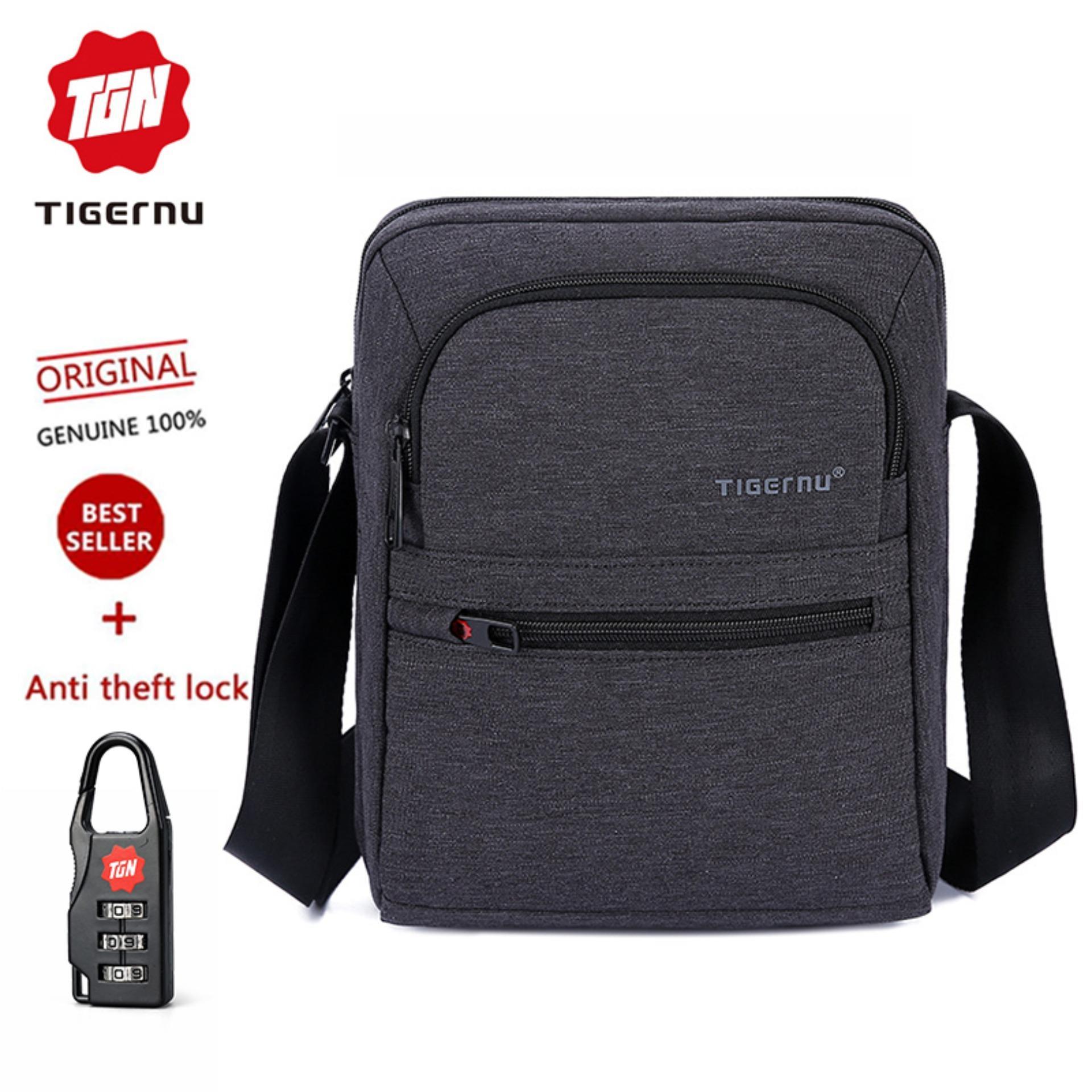 3da84843f002 Tigernu Brand Waterproof Men 's Messenger Bag Business Shoulder Bags Casual  Travel Bag T-L5105(Black Grey) - intl