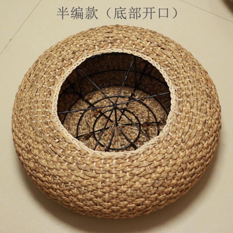 Rattan Futon throw pillow Thickening round throw pillow Japanese Style Tea Ceremony Floor Terrace/Patio Bay Window Tatami throw pillow Stool