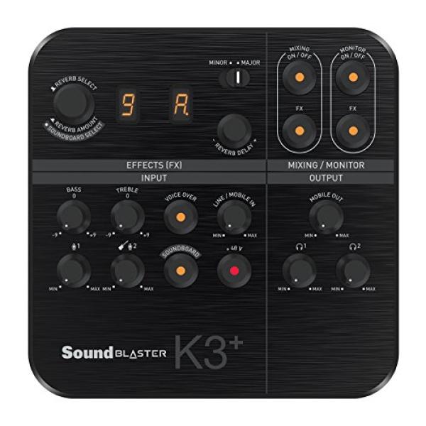 Creative Sound Blaster K3+ USB Powered 2 Channel Digital Mixer AMP/DAC/, Digital Effects XLR Inputs with Phantom Power / TRS / Z Line Inputs Singapore
