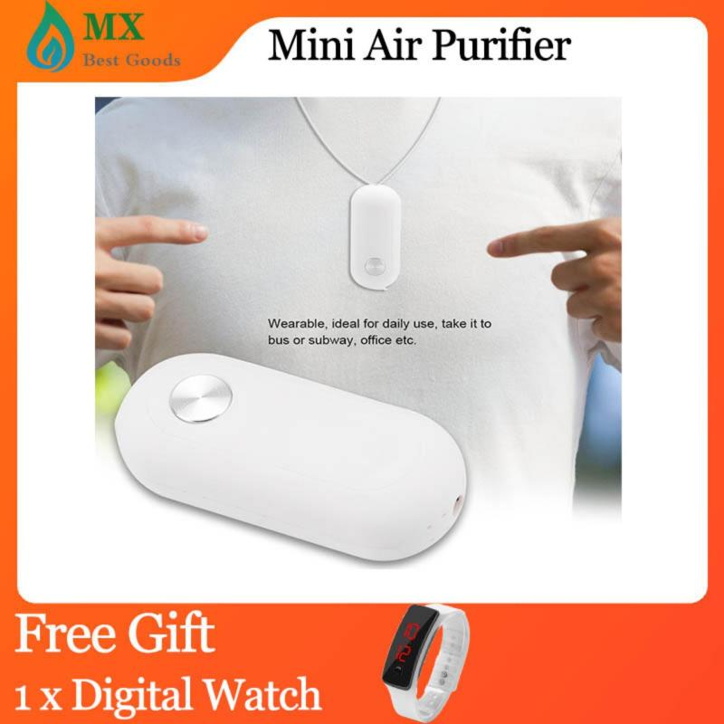 [free gift] Portable Mini Personal Air Purifier Negative Ion Generator USB Wearable Singapore