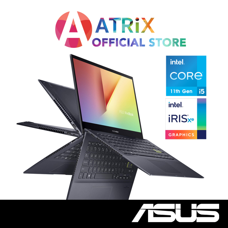 New ASUS Vivobook Flip 14 TP470EA-EC051T | 14 FHD Touch with Stylus | Intel i5-1135G7 | 8GB DDR4 | 512GB PCIe SSD | Free ASUS Pen | WIn10 Home | 2Year ASUS International Warranty