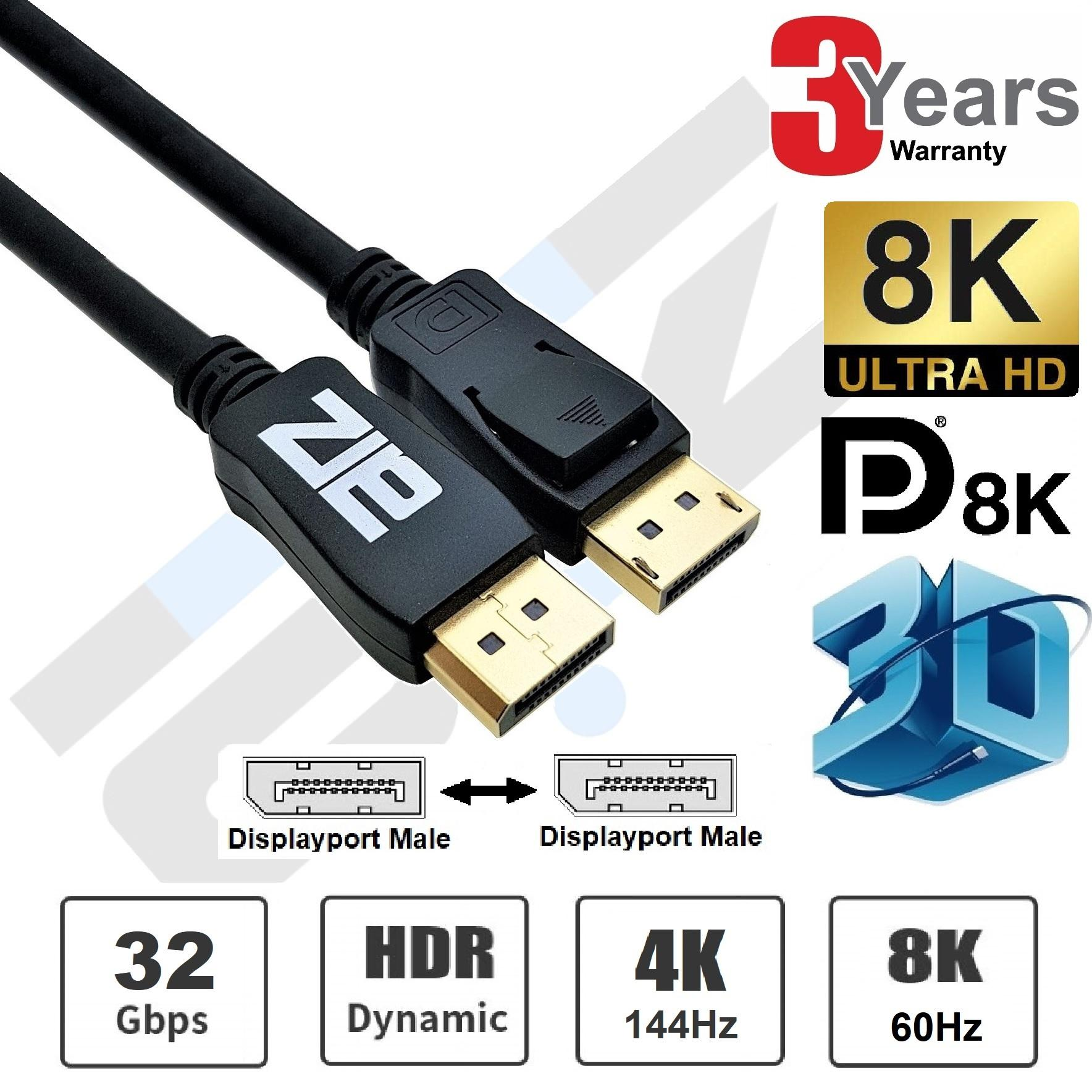 Displayport 1.4 cable 8K DisplayPort to DisplayPort cord 8K 60Hz HDR 1.8m 3M 5M