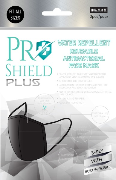 Buy ProShield Plus Water Repellent Reusable Antibacterial Face Mask (2pcs/Pack) Singapore