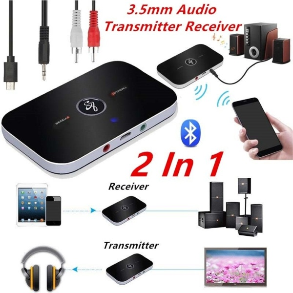MSRC 2 in 1 Headphones A2DP USB 3.5mm Aux Transmitter Receiver Stereo Music Wireless Bluetooth Audio Adapter
