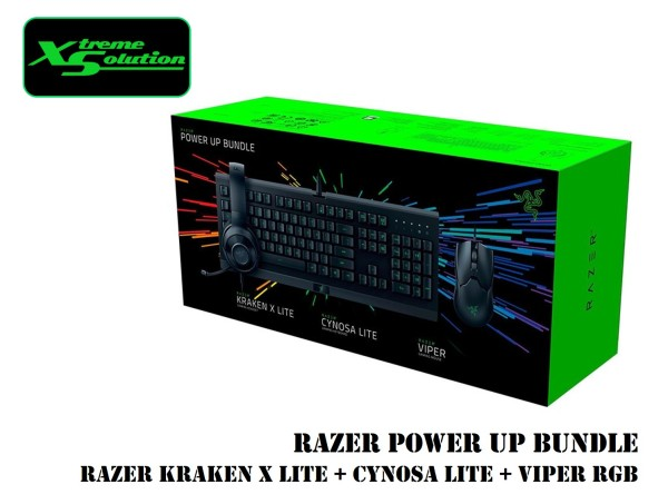 Razer Power Up Bundle (Kraken X Lite + Cynosa Lite + Viper RGB) Singapore