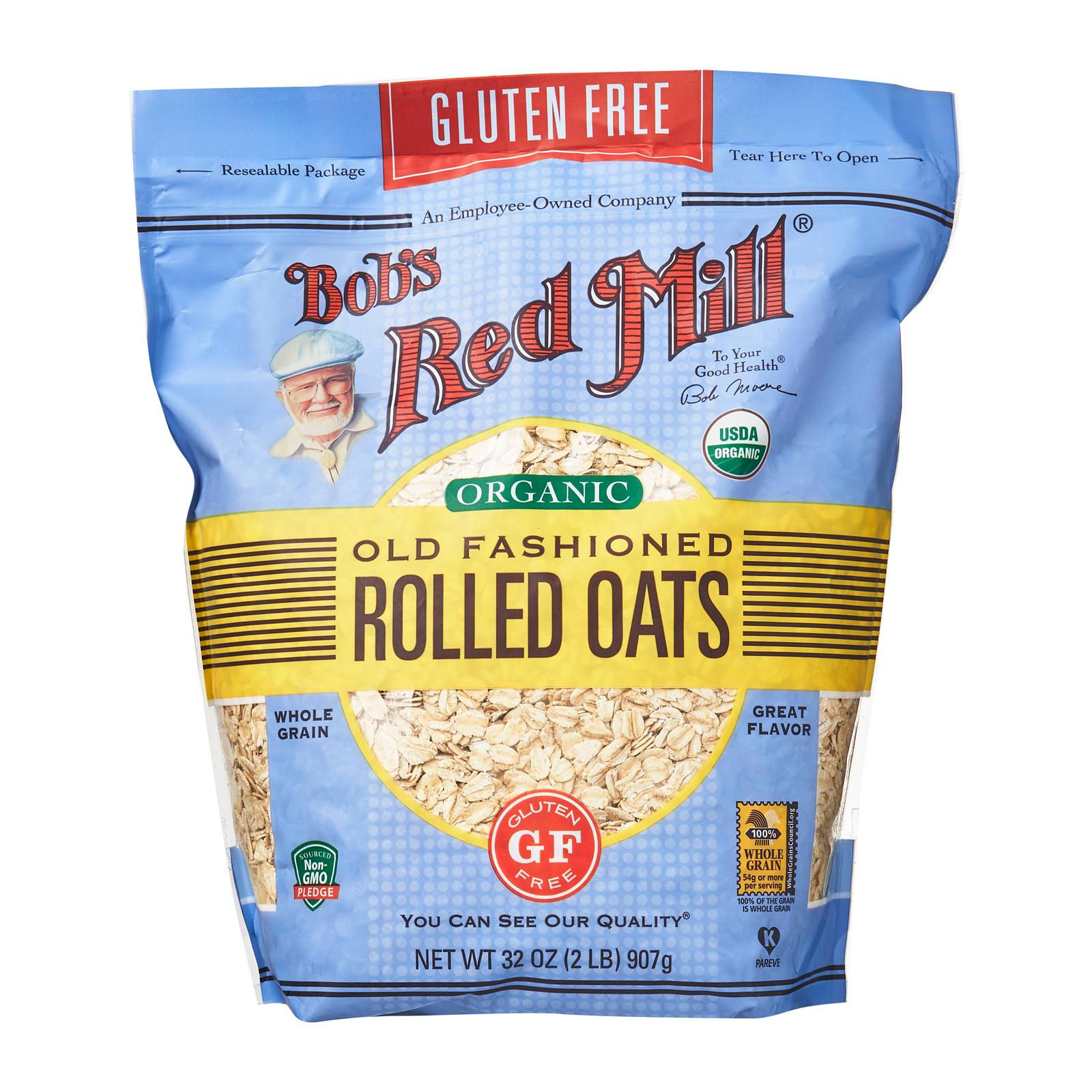BOB'S RED MILL Gluten-Free Old Fashioned Rolled Oats Whole Grain