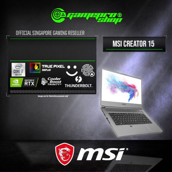 MSI Creator 15 A10SET Gaming Laptop (i7-10875H/16GB DDR4/1TB SSD/NVIDIA RTX2060 6GB GDDR6/15.6 Touch Panel/W10) - A10SET- (2Y)