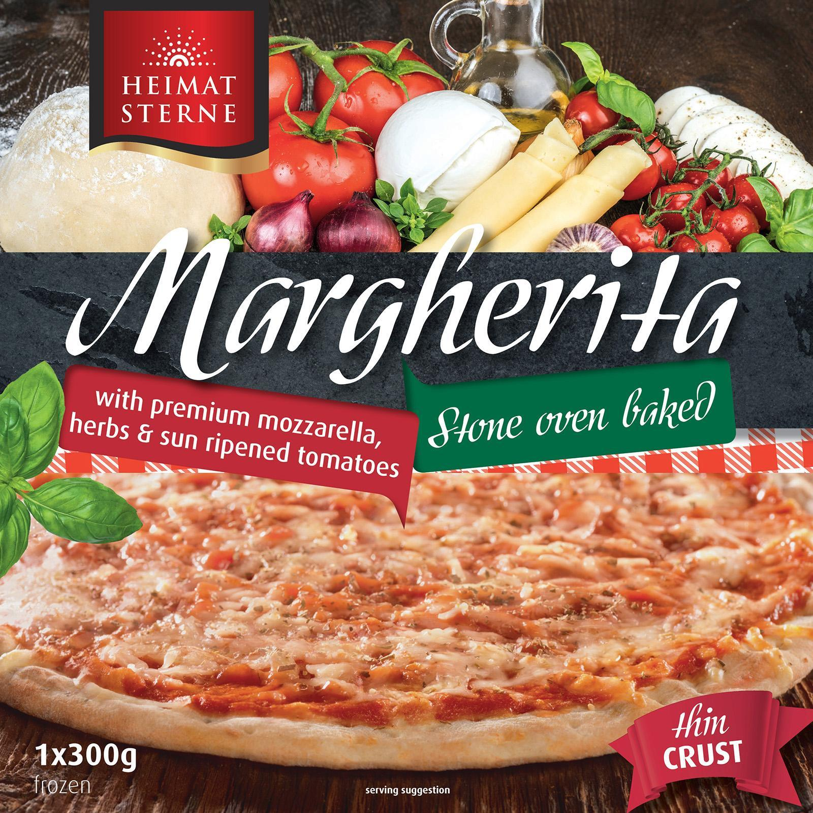 Heimatsterne Margherita Thin Crust Pizza - Frozen By Redmart.
