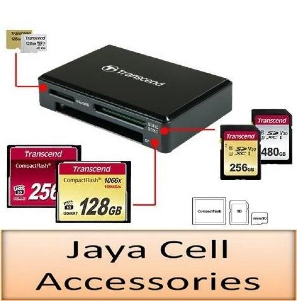 Transcend RDC8 USB 3.1 Gen 1 USB-C UHS-I SD, microSD & CompactFlash CF Card Reader