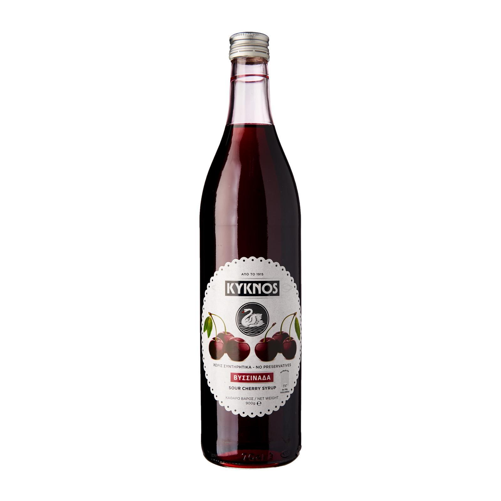 KYKNOS Greek Sour Cherry Syrup - By Agora Products