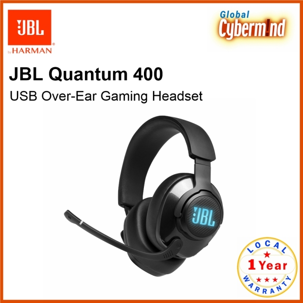 JBL Quantum 400 USB Over-Ear Gaming Headset ( Brought to you by Global Cybermind )