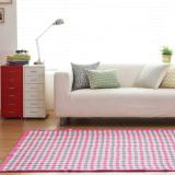 Compare Price Blmg Bibi Check Cotton Carpet Pink Free Delivery On Singapore