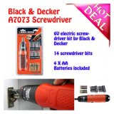 Sales Price Black And Decker 6V Alkaline Screwdriver A7073 With 14Bits Features Innovative Screwdriver Powered By Alkaline Batteries
