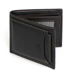 Discount Black Coffee Color Men Short Wallet Trendy Pleated Pattern Fashion Brand Design Mens Leather Wallets Business Style Purse Black