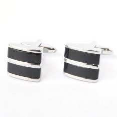 Price Comparisons Black Curved Two Section Cufflinks