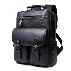 Sale Black Sch**l Bags Trendy Men Backpacks Outdoor Back Pack Casual Travel Bag Sports Bickpick Mochila Leather Knapsack Tour Packsack Export China Cheap
