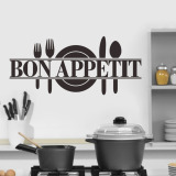 Low Cost Bon Appetit Vinyl Letters Quote Removable Pvc Wall Decal Kitchen Decor 25 60Cm Intl