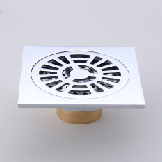 Review Brass Bathroom 10Cm 10Cm Floor Drain Chrome Intl China