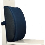 Best Offer Breathable Back Rest Cushion With Strap Navy Blue