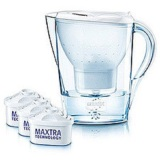 Low Cost Brita New Marella 2 4L Cool White Jug With 3 Maxtra Water Filters