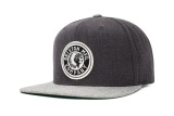 Brixton Rival Snapback Light Heather Grey Charcoal Heather For Sale