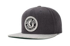 Low Price Brixton Rival Snapback Light Heather Grey Charcoal Heather