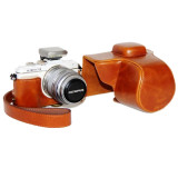 Price Brown Pu Leather Camera Case Cover Bag Pouch For Olympus Epl7 With Strap China