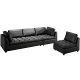 Compare Prices For Brussel Sofa Black Free Delivery