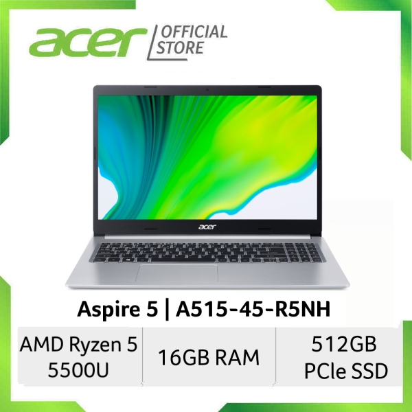 [AMD Ryzen 5000 Series] Acer Aspire 5 A515-45-R5NH 15.6 Inches FHD IPS Laptop | Ryzen 5 5500U Processor | 16GB RAM | 512GB SSD