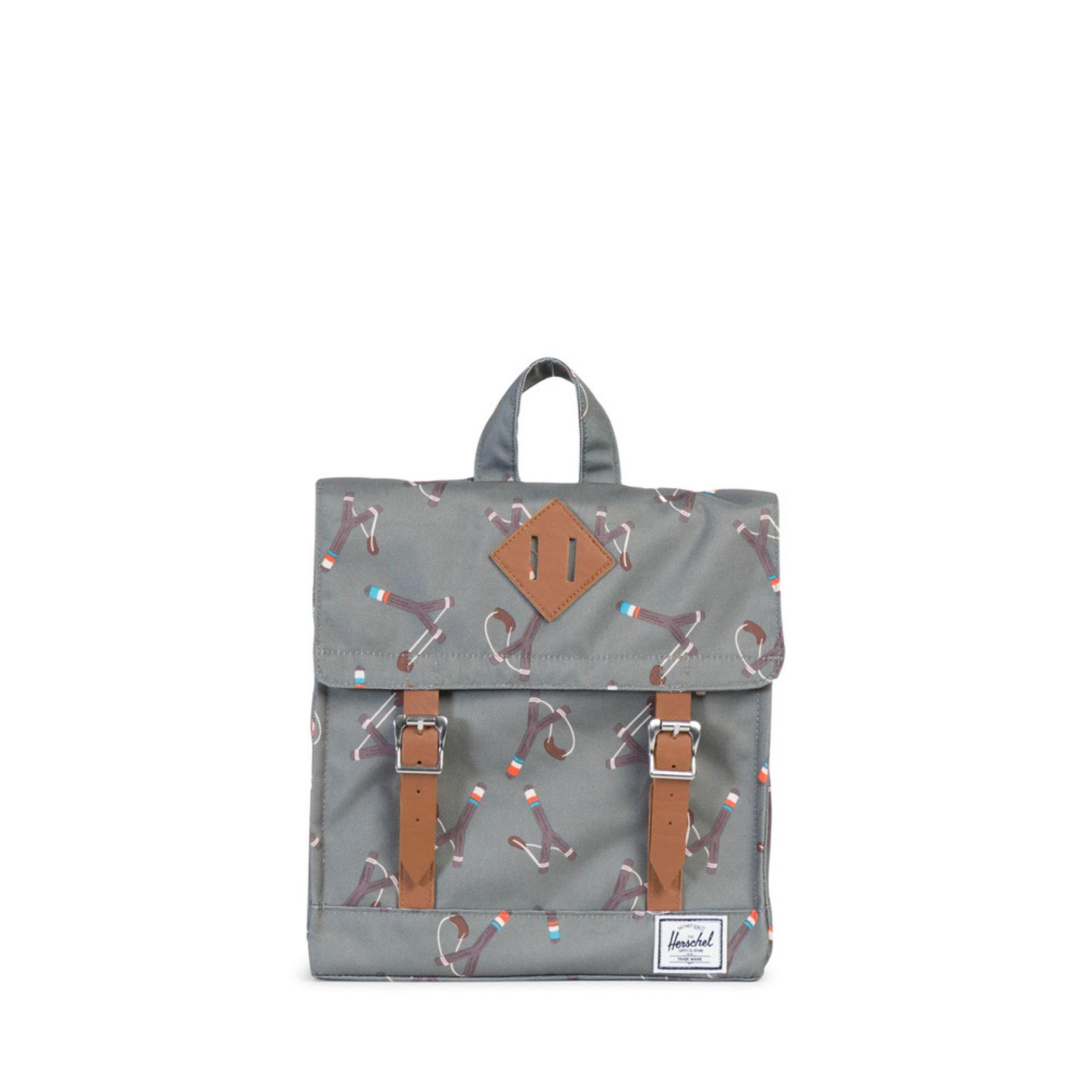 HERSCHEL SURVEY KID - Sticks & Stones/Tan Synthetic Leather